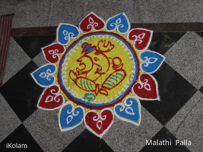 Rangoli: Rangoli for vinayaka chavithi