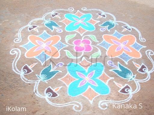 Rangoli: pookolam---dotted