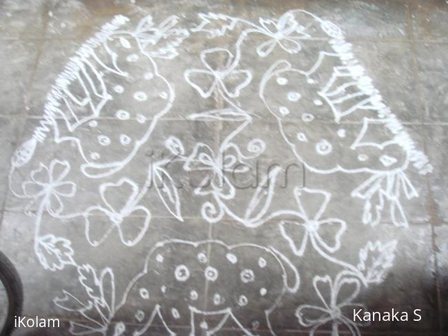 Rangoli: deer kolam