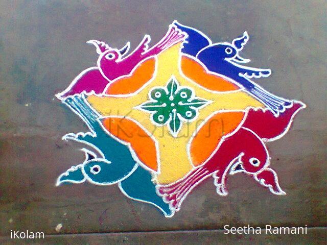 Rangoli: Frolicking birds!