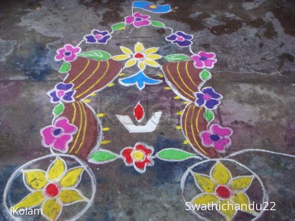 Rangoli: Flower ratham