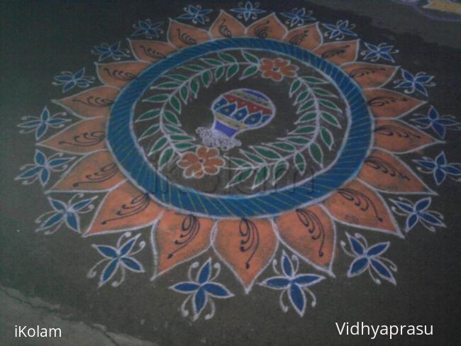 Rangoli: My neighbour's rangoli on  pongal