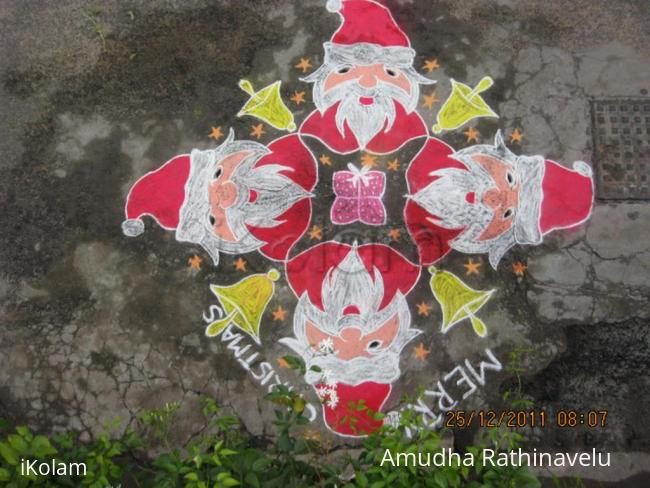 Rangoli: Santa