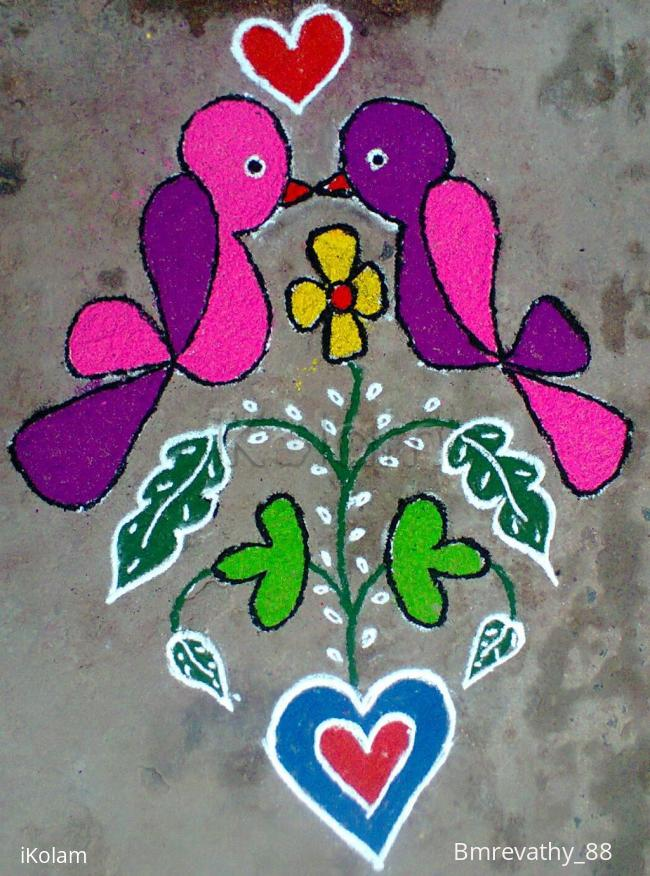 Rangoli: Love Birds
