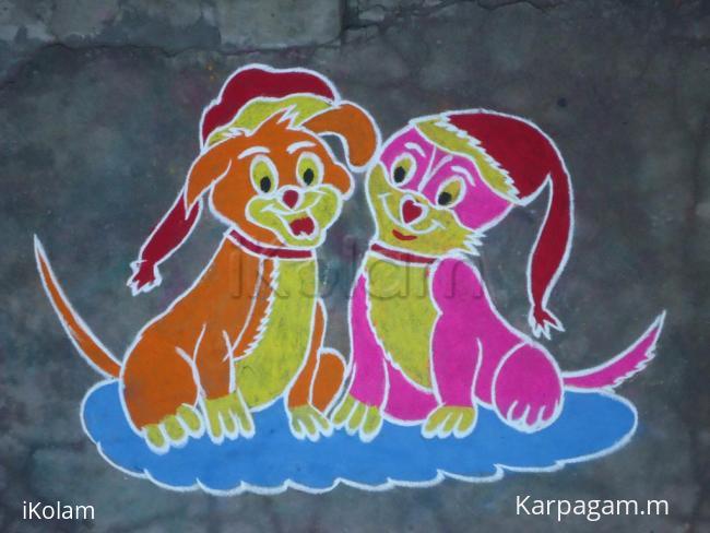 Rangoli: Pet Kolam