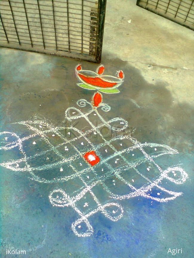 Rangoli: Bicursal Kolam