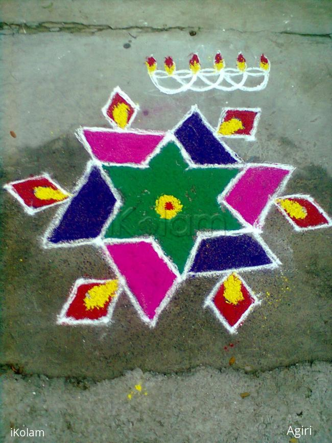 Rangoli: karthigai deepam Kolam - 02