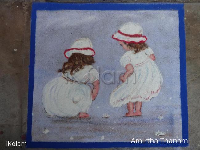 Rangoli: Babies rangoli