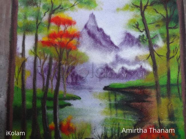 Rangoli: scenery rangoli
