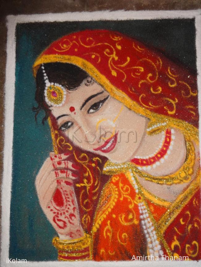 Rangoli: lady