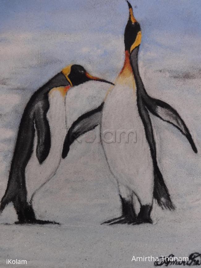 Rangoli: Penguin