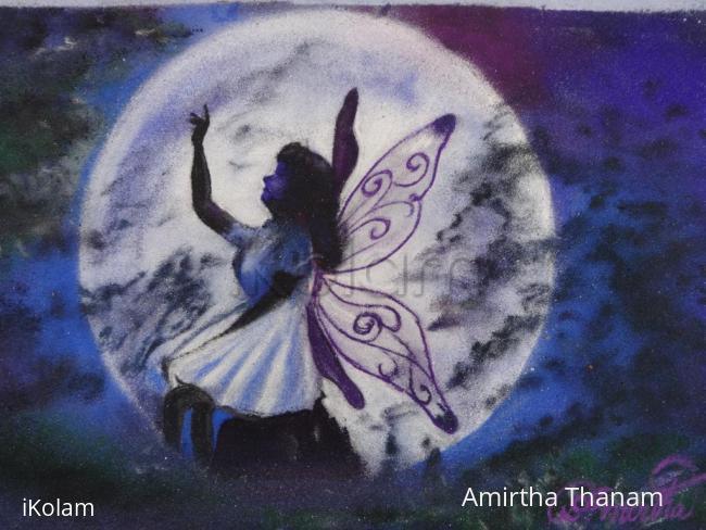 Rangoli: Angel in a dew