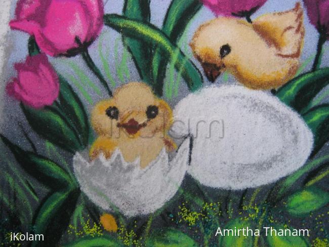 Rangoli: chicks