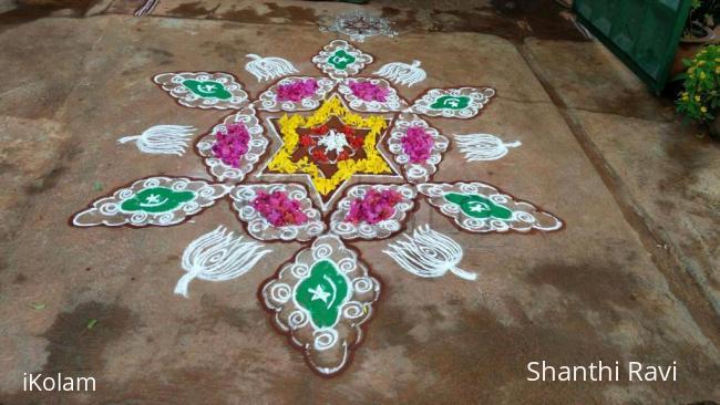 Rangoli: Eid Mubarak and Happy Onam!