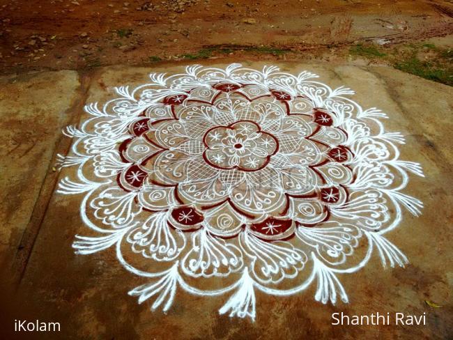 Rangoli: Friendship day rangoli
