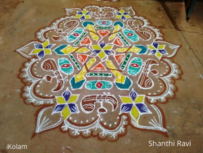 Rangoli: Navarathri Rangoli Day 9 - 2015