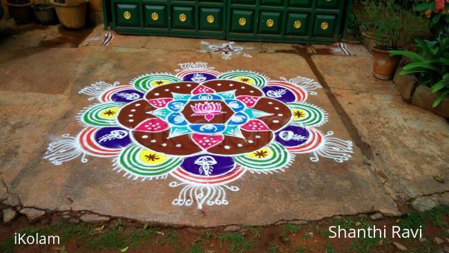 Rangoli: Karthigai deepam Rangoli