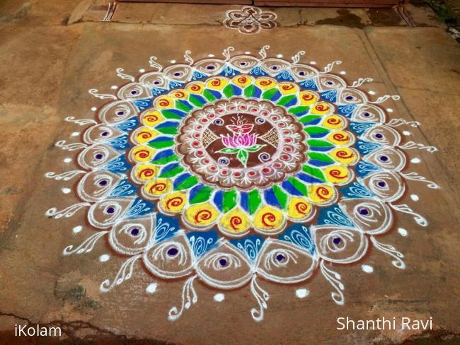 Rangoli: Navarathri rangoli Day 10 - 2015