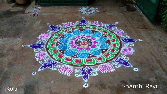 Rangoli: Varamahalakshmi rangoli