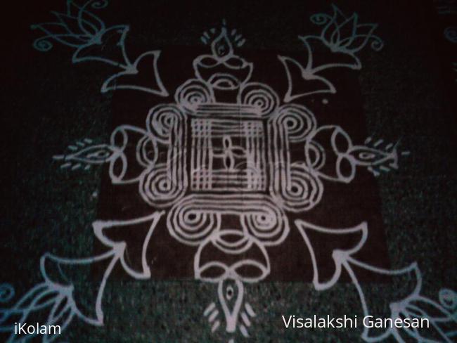 Rangoli: Karthigai padi Kolam