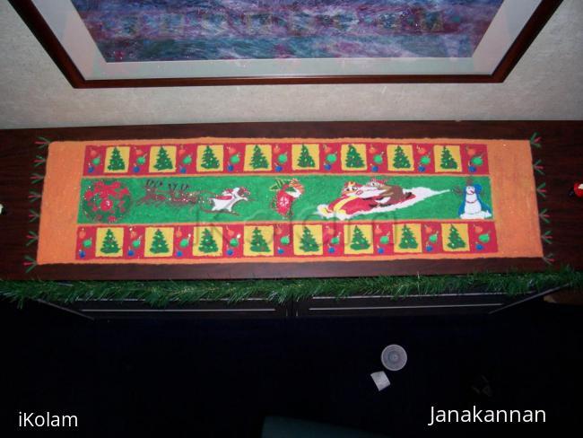 Rangoli: Christmas Rangoli