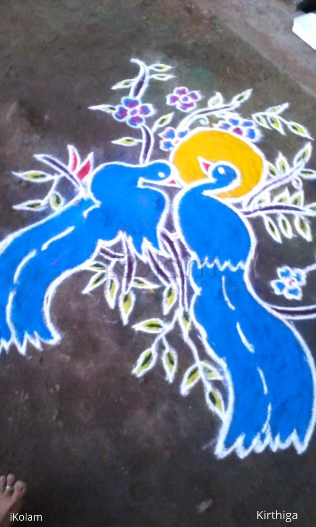 Rangoli: marghali kolam