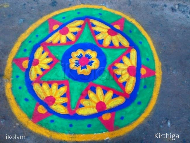 Rangoli: Ganesh chaturti kolam