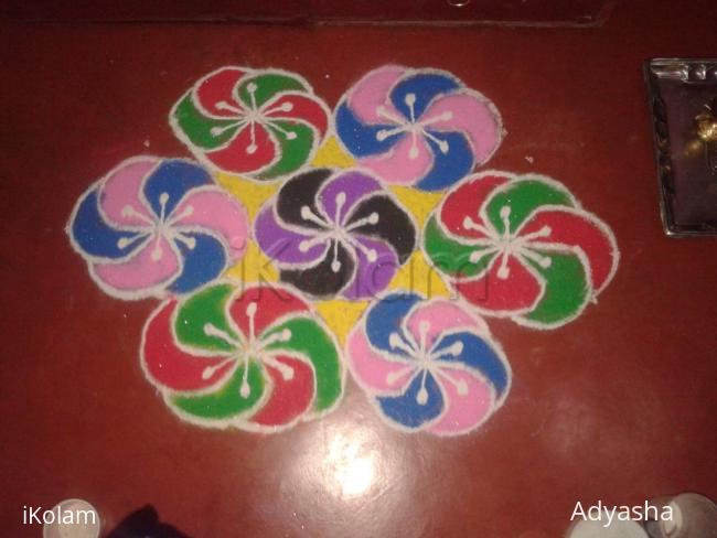 Rangoli: dotted rangoli at sai mandir