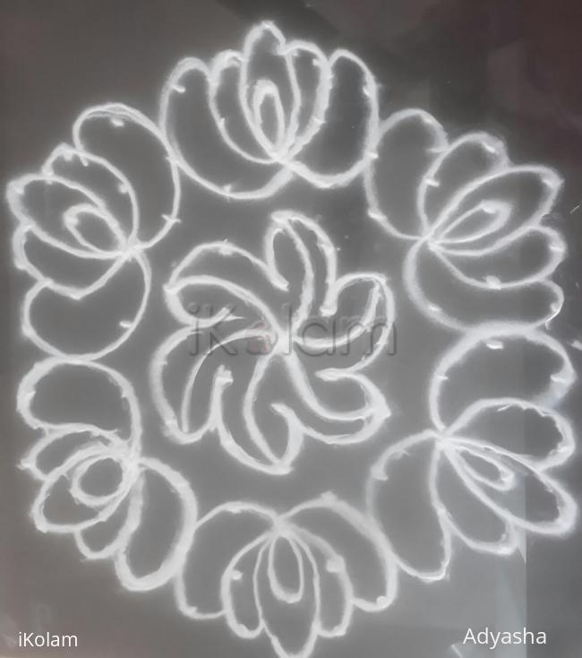 Rangoli: 11to6 kolam flower