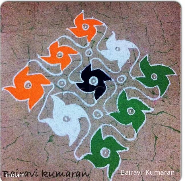 Rangoli: Independence day rangoli