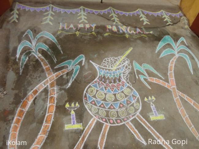 Rangoli: Happi Pongal to all ..