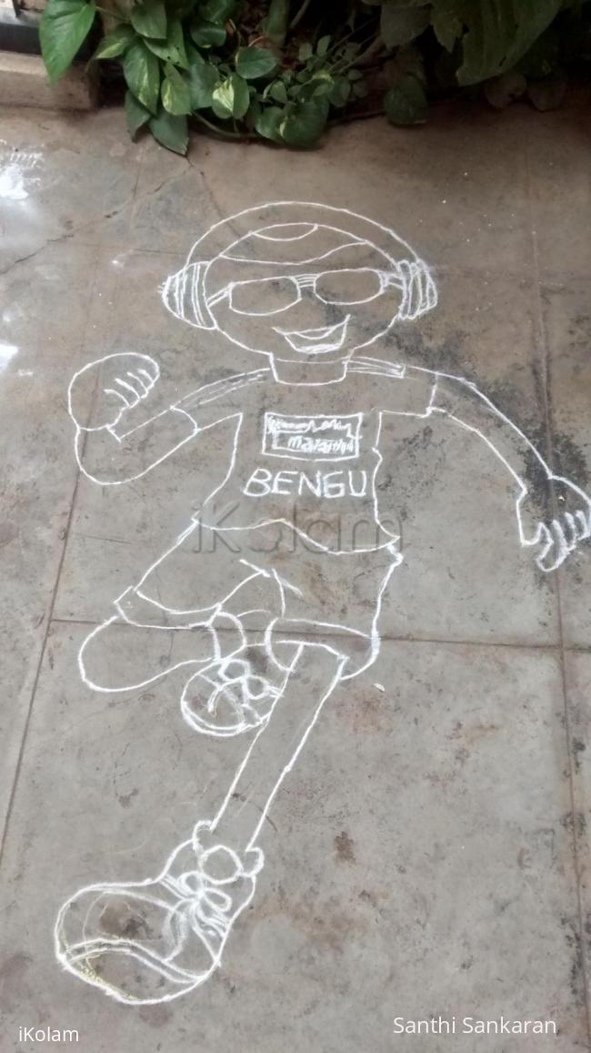 Rangoli: cartoon