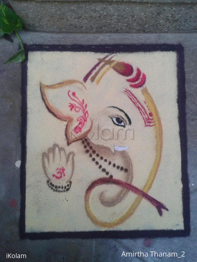 Rangoli: lord  vinayagar