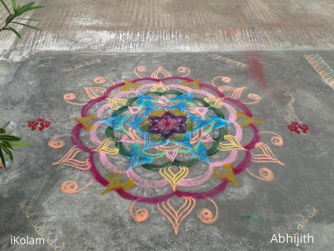 Rangoli: kolam with colors