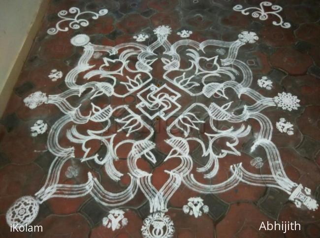 Rangoli: Welcome Varalakshmi