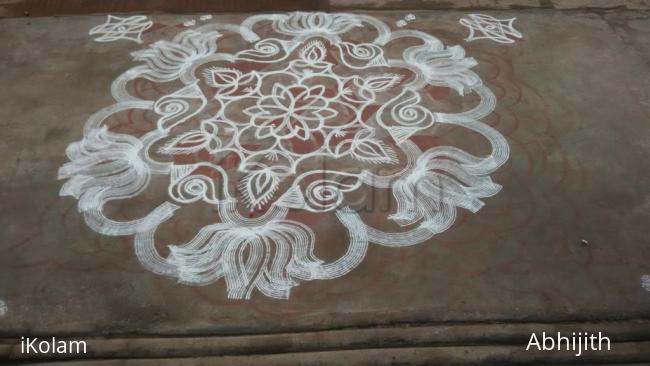 Rangoli: Sangu kolam