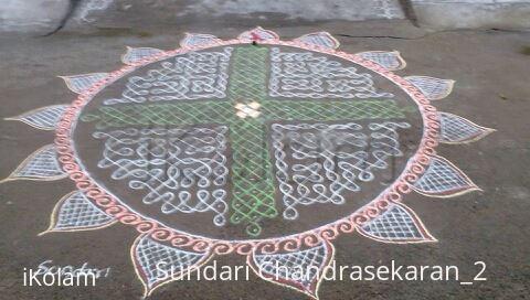 Rangoli: margazhi day 4