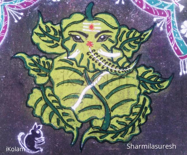 Rangoli: arasa ilai vinayagar