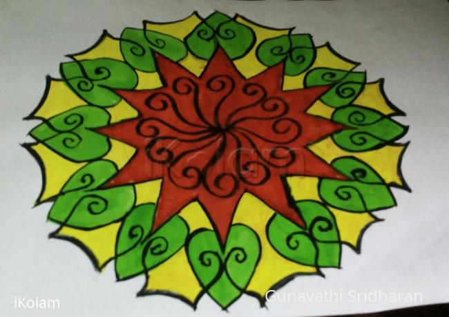 Rangoli: welocome flower rangoli