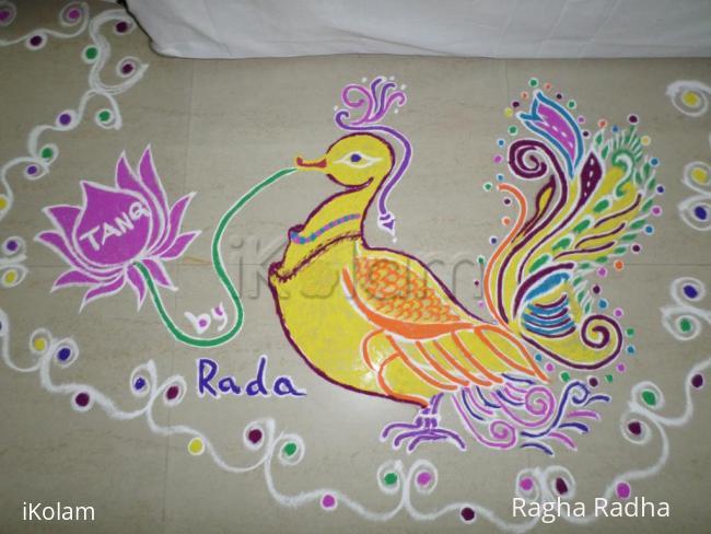 Rangoli: Yellow Swan