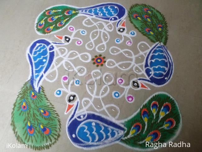 Rangoli: An Honorable Gift By Lord SRIKRISHNA To Peacocks.
