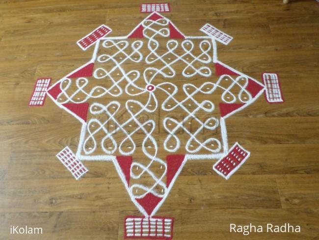 Rangoli: 19thEasy Chikku Padi Rangoli
