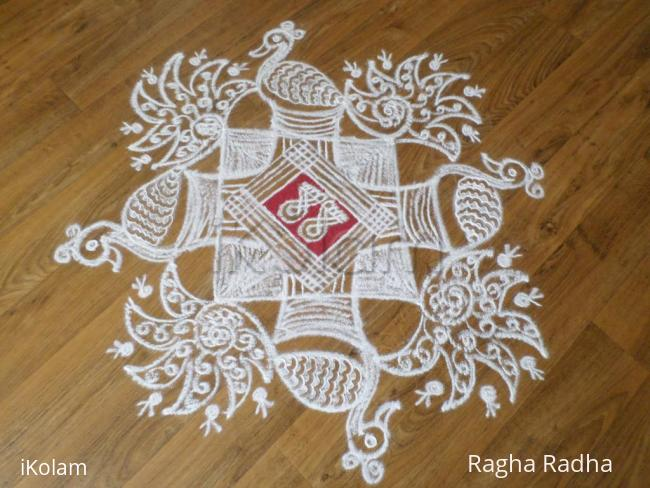 Rangoli: NavaRathri-6thDay