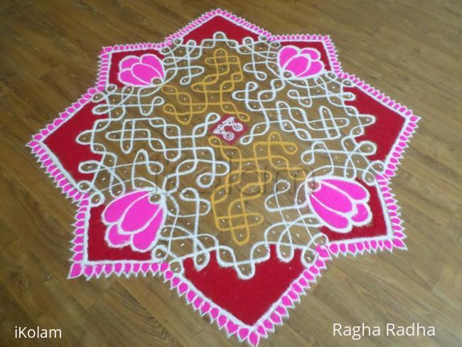 Rangoli: SriVaraLakshmi Vratham Rangoli