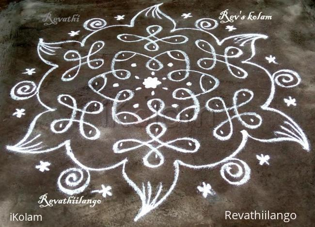 Rangoli: Rev's daily chikku white