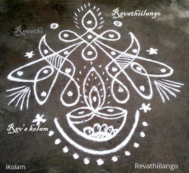 Rangoli: Rev's daily deepam chikku