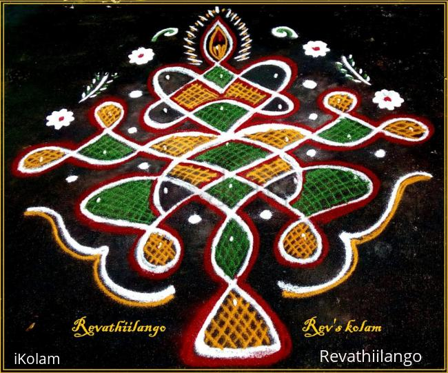 Rangoli: Rev's easy chikku Karthigai deepam 27