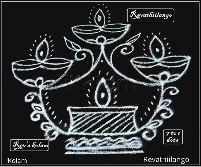 Rangoli: Rev's friday kolam.