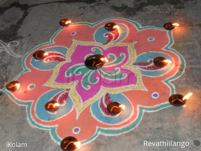 Rangoli: Karthigai. Karthigai deepam rangoli.