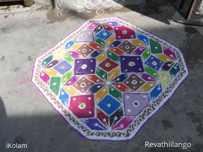 Rangoli: Happy Holi - Holi carpet rangoli
